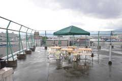 屋上の様子。(2013-08-27,共用部,OTHER,5F)