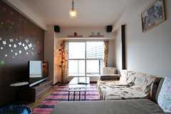 リビングの様子3。(801号室犬部屋)(2013-03-25,共用部,LIVINGROOM,8F)