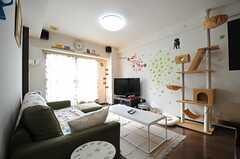 リビングの様子2。(802号室猫部屋)(2013-03-25,共用部,LIVINGROOM,8F)