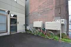 自転車置き場の様子。(2014-09-16,共用部,GARAGE,1F)
