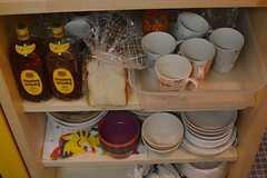 食器棚の様子。(2015-01-21,共用部,KITCHEN,3F)