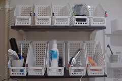 バスグッズなどはカゴに収納できます。(2015-01-21,共用部,OTHER,3F)