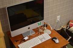 共用PCの様子。(2011-12-11,共用部,PC,2F)