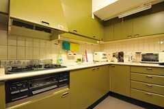 既存のキッチンと新設されたキッチンが並んでいます。(2011-12-11,共用部,KITCHEN,2F)