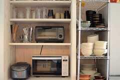 食器棚の様子。(2014-06-04,共用部,KITCHEN,2F)