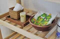 カエルのナプキンがキュート。(2012-03-23,共用部,KITCHEN,4F)