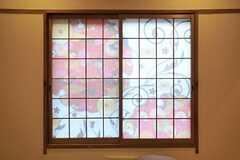 障子の柄が斬新。(202号室)(2012-03-23,専有部,ROOM,5F)