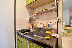 キッチンの様子。簡単な自炊ができます。(701号室)(2017-01-16,共用部,KITCHEN,7F)