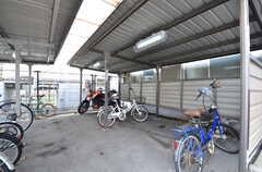 自転車置場の様子。(2015-09-01,共用部,GARAGE,1F)