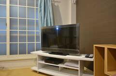 共用TVの様子。(2015-02-03,共用部,LIVINGROOM,1F)