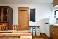 収納棚脇は水まわり設備です。(2018-02-13,共用部,KITCHEN,1F)