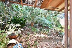 庭の様子。屋根付きで物干しもできます。(A棟)(2017-04-04,共用部,OTHER,3F)