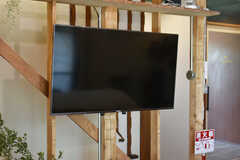 TVは壁掛け式です。(2019-06-11,共用部,TV,1F)
