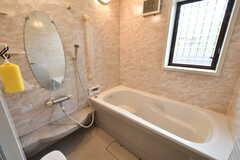 バスルームの様子。洗い場には余裕があります。(2019-06-11,共用部,BATH,1F)