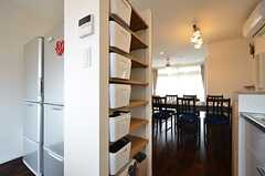 部屋ごとの調味料などを収納できるボックス。(2016-04-05,共用部,KITCHEN,2F)