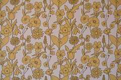 ミッフィーの生みの親、ブルーナが手がけたパターンの壁紙。(306号室)(2016-04-05,専有部,ROOM,3F)