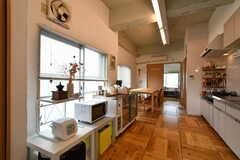 キッチンの対面に家電類が設置されています。(2018-01-16,共用部,KITCHEN,5F)