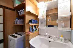 脱衣室に設置された洗面台。(2019-03-26,共用部,WASHSTAND,1F)