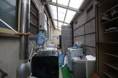 洗濯機置場の様子。(2013-04-01,共用部,LAUNDRY,1F)
