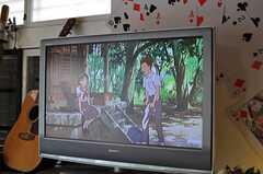 TVの様子。(2013-04-01,共用部,TV,1F)