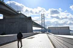 明石海峡大橋の様子。(2017-01-16,共用部,ENVIRONMENT,1F)