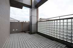 ベランダの様子。(605号室)(2013-03-14,専有部,ROOM,6F)