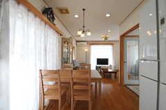 ダイニング・テーブル全体の様子。(2013-03-23,共用部,LIVINGROOM,1F)