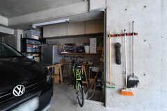 駐輪場の様子。(2019-02-13,共用部,GARAGE,1F)