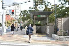 神戸市営地下鉄山手線・県庁前駅の様子。(2019-02-13,共用部,ENVIRONMENT,1F)