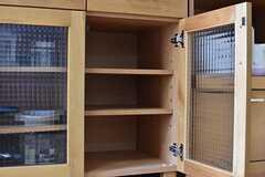 収納棚は専有部ごとにスペースが決められています。(2017-02-07,共用部,KITCHEN,2F)