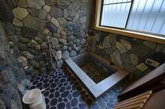 バスルームの様子2。本物の石でできています。(2017-02-07,共用部,BATH,1F)