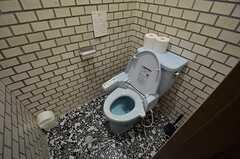 ウォシュレット付きトイレの様子。(2015-02-03,共用部,TOILET,1F)