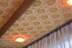 天井の壁紙は立体感があります。(2015-02-03,共用部,OTHER,1F)