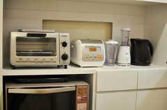 キッチン家電の様子。(2012-09-14,共用部,KITCHEN,1F)