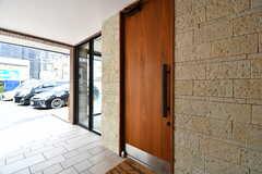 カフェの入口の様子。(2017-02-07,共用部,OTHER,1F)