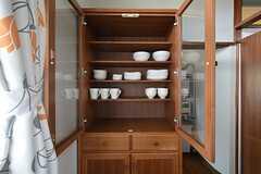 食器棚の様子。(2015-09-01,共用部,GARAGE,1F)