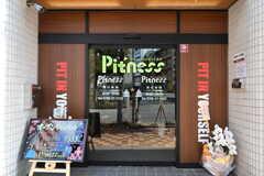 会員制フットネススタジオの入口。入居者さんは無料で使えます。(2017-12-11,共用部,OTHER,1F)
