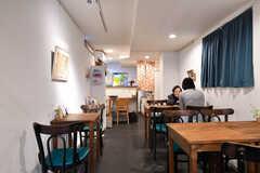 併設しているカフェの様子2。(2019-01-21,共用部,OTHER,1F)