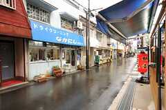 各線・三田駅からシェアハウスへ向かう道の様子。(2012-03-23,共用部,ENVIRONMENT,1F)