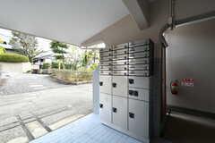郵便受けと宅配ボックスが設置されています。(2019-02-20,周辺環境,ENTRANCE,1F)