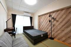 専有部の様子。全室セミダブルベッドです。(309号室)(2019-02-20,専有部,ROOM,3F)