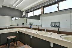 男性専用の洗面台の様子。(2020-02-05,共用部,WASHSTAND,3F)
