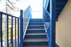 屋上にも同じ階段を使います。(2014-03-17,共用部,OTHER,3F)