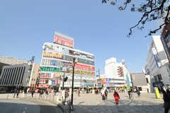 小田急小田原線・本厚木駅前の様子。(2014-03-17,共用部,ENVIRONMENT,4F)