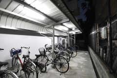 建物裏にある自転車置き場の様子。(2010-10-15,共用部,GARAGE,5F)