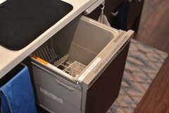 食器洗浄機の様子。(2020-08-17,共用部,KITCHEN,2F)