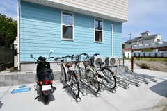 自転車置き場の様子。(2018-07-11,共用部,GARAGE,1F)