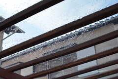 透明な屋根で、雨が降ってもテラスで過ごせます。(2016-12-05,共用部,OTHER,1F)