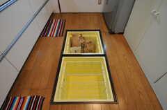 床下収納の様子。(2012-07-02,共用部,KITCHEN,1F)