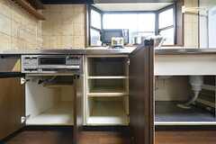 キッチン下には共用の収納があります。(2016-02-24,共用部,KITCHEN,1F)